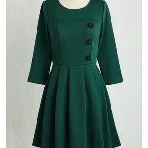 Modcloth Emerald A-LINE Dress